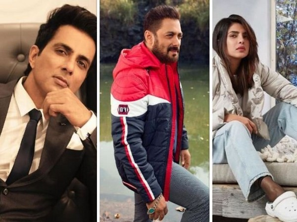 Sonu Sood, Salman Khan and Priyanka Chopra Jonas (Image Courtesy: Instagram)