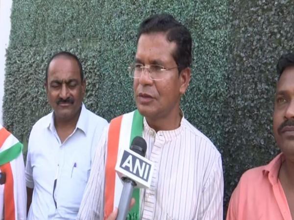 Chhattisgarh Pradesh Congress Committee Mohan Markam speaking to ANI in Raipur, Chhattisgarh on June 28. Photo/ANI