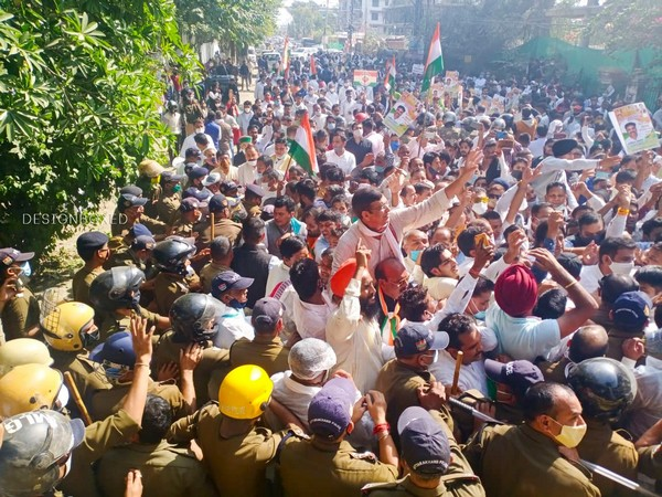 A visual from protest march in Dehradun on Thursday. (Picture courtesy: Twitter)