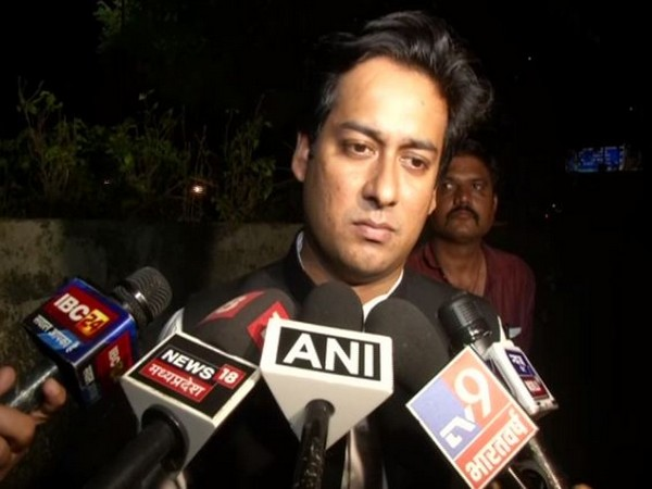 Madhya Pradesh Minister for Urban Development and Housing Jaivardhan Singh while speaking to reporters in Bhopal on Monday. Photo/ANI