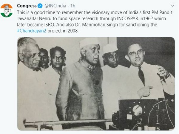 A screenshot of the tweet by the Congress party.