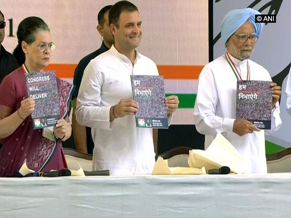 Congress party on Tuesday released party's manifesto for 2019 Lok Sabha elections