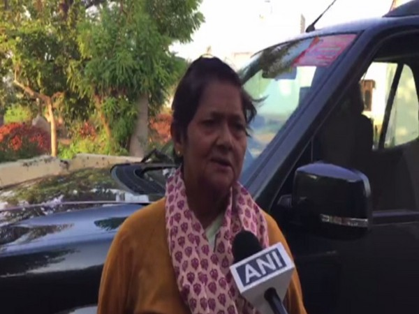 Sharda Tyagi talking to ANI on Tuesday in Meerut. Photo/ANI