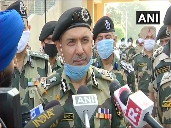 SS Deswal, Director General of ITBP and BSF, talking to reporters on Saturday. Photo/ANI