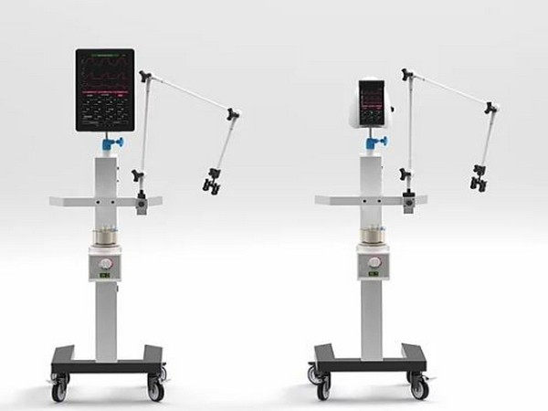 The ventilator runs on room air without the need of compressed medical air
