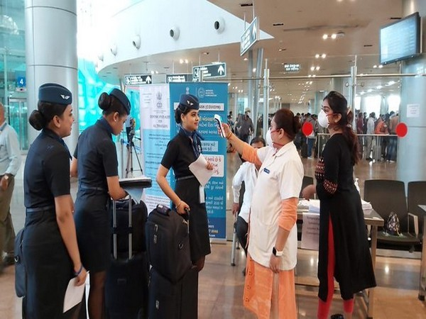 Visual from Sardar Vallabhbhai Patel International Airport in Ahmedabad.