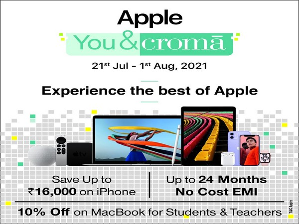 Experience the best of Apple at Croma with #AppleYou&Croma