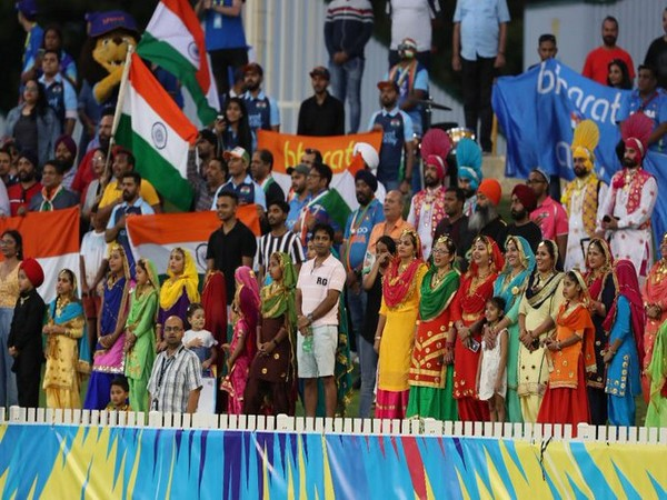 Indian crowd enjoying India-Bangladesh clash at WACA in the Women's T20 World Cup. (Photo/T20 World Cup Twitter)