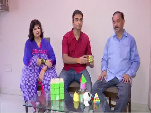 Chinmay Prabhu with his parents talking exclusively to ANI