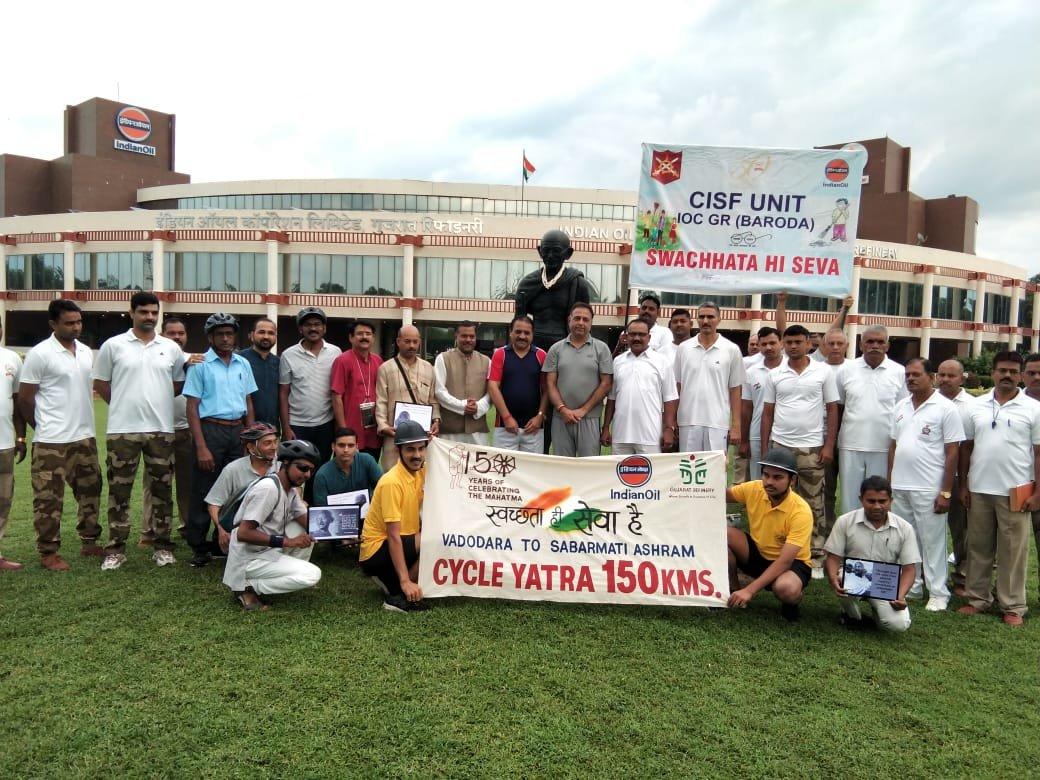 CISF organises bike rally to spread awareness on Gandhi teachings in Baroda