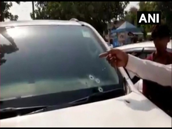 Bullet holes on car's glass [Photo/ANI]