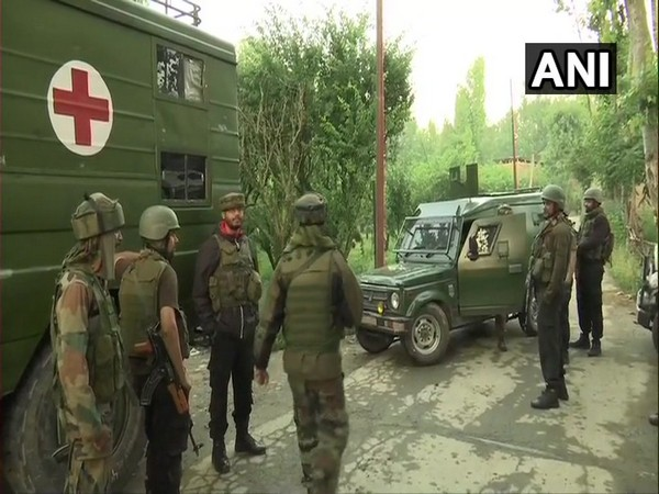 Jammu and Kashmir: Exchange of fire between terrorists and security forces at Kralpora area in Budgam district. (Visuals deferred by unspecified time)