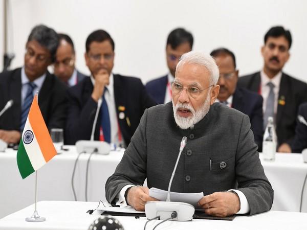 Prime Minister Narendra Modi during BRICS informal talks