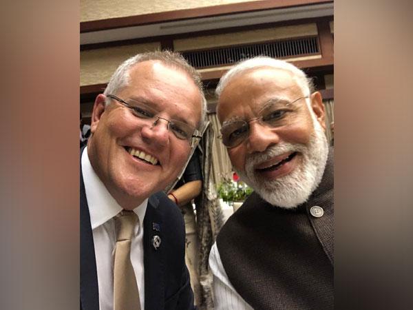 Australian Prime Minister Scott Morison and his Indian counterpart Narendra Modi
