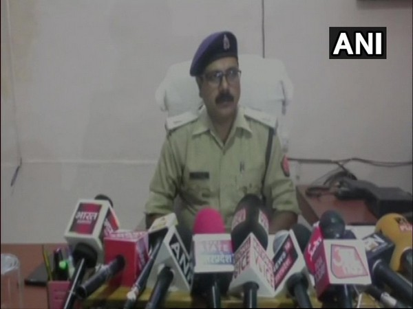 Assistant Superintendent of Police (ASP) Madhuban Singh speaking to reporters. Photo/ANI