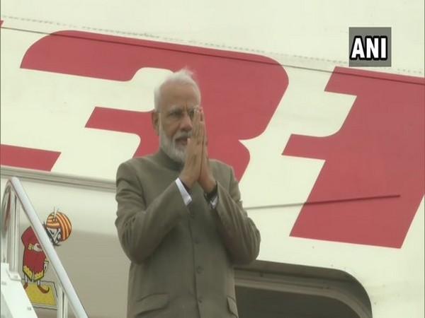 Prime Minister Narendra Modi while boarding plane for India on Saturday in Japan