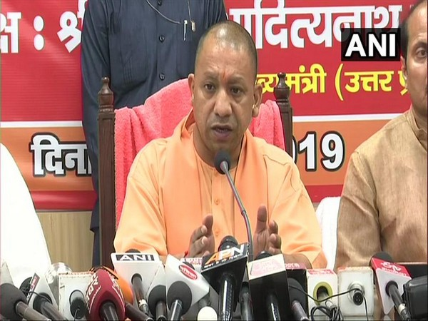 Uttar Pradesh Chief Minister Yogi Adityanath speaks to media in Saharanpur on Sunday. [Photo/ANI]