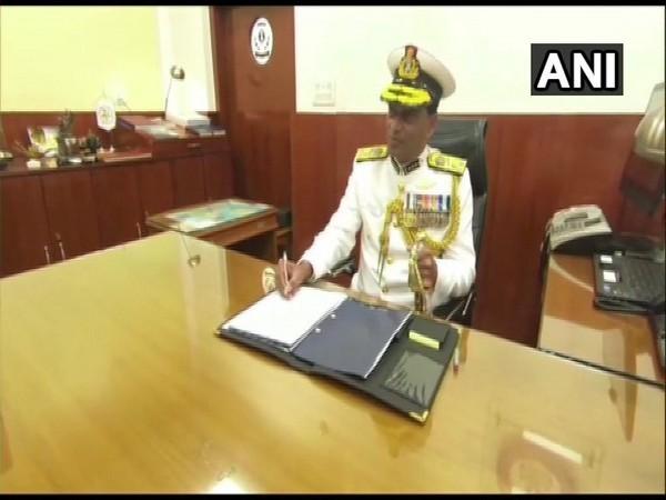 Director General Krishnaswamy Natarajan took over as the Chief of Indian Coast Guard on Sunday. Photo/ANI