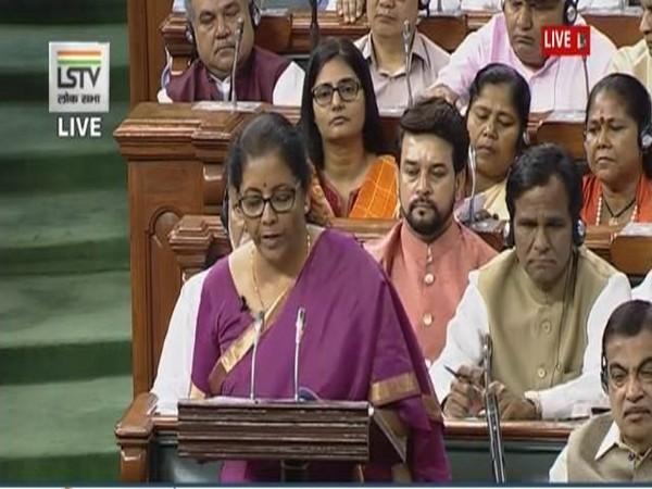 Finance Minister Nirmala Sitharaman (Source : LSTV)