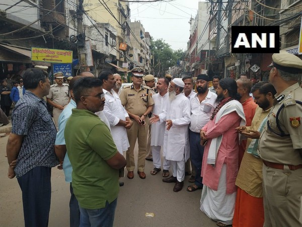 Delhi Police Commissioner Amulya Patnaik visited Hauz Kazi area on Friday. Photo/ANI