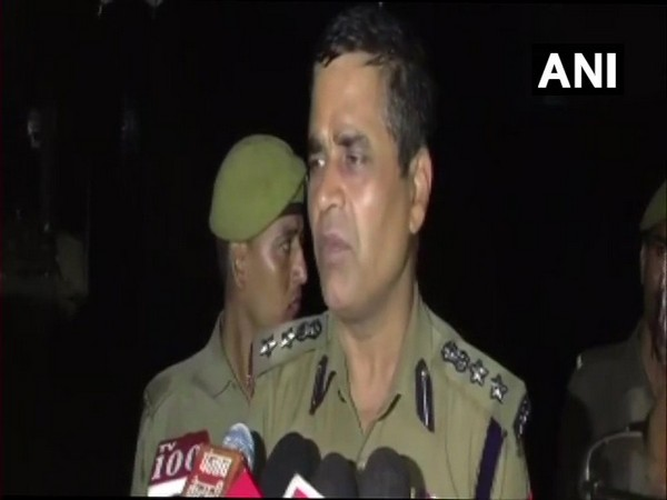 Senior Superintendent of Police (SSP) Anantdev Singh speaking to media person in Kanpur on Friday, Photo/ANI