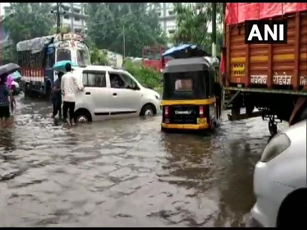 Waterlogged streets in Bhiwandi, Thane