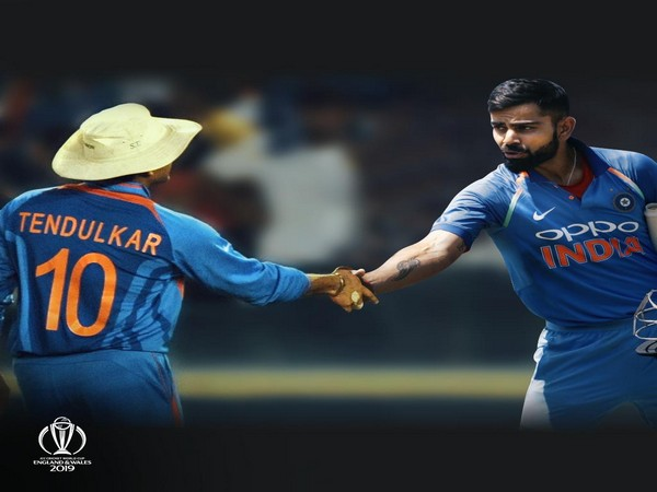 Sachin Tendulkar and Virat Kohli (Photo/Cricket World Cup Twitter)