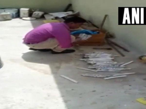 Huge quantity of explosives, detonators seized from Palghar, Maharashtra (Photo/ANI)