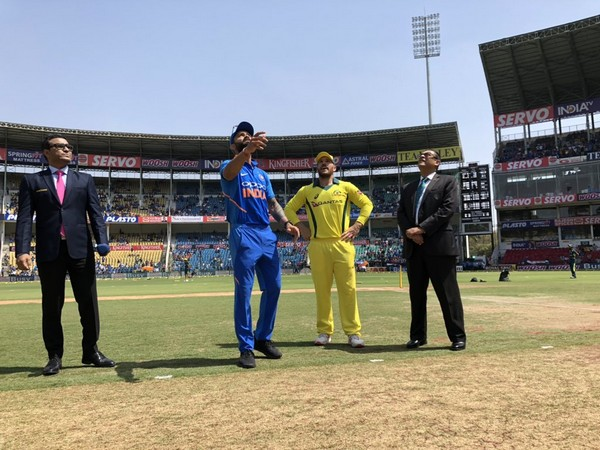 Indian and Australian Captains during the toss at Nagpur(Courtesy- Cricket Australia-Twitter)