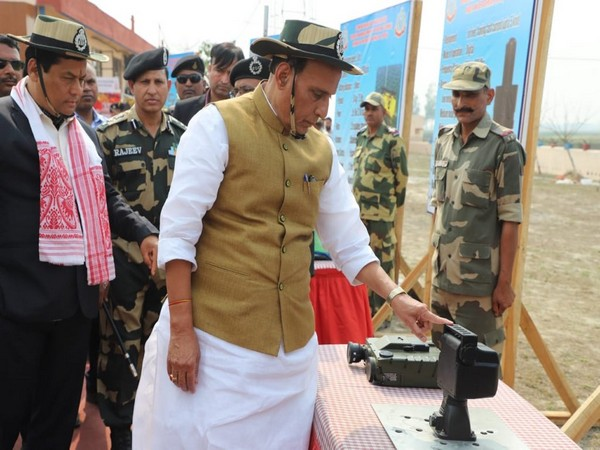 Rajnath Singh inaugurates smart fencing project in Assam on Tuesday