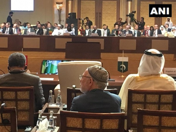 Pakistan's empty chair at the inagural session of OIC Council of Foreign Ministers being held in Abu Dhabi, UAE. (Photo/ANI)