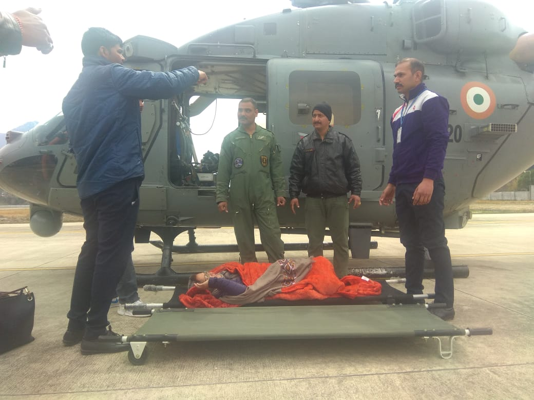 Indian Airforce airlifted over 50 people, including two serious patients from Himachal Pradesh [Photo/ANI]