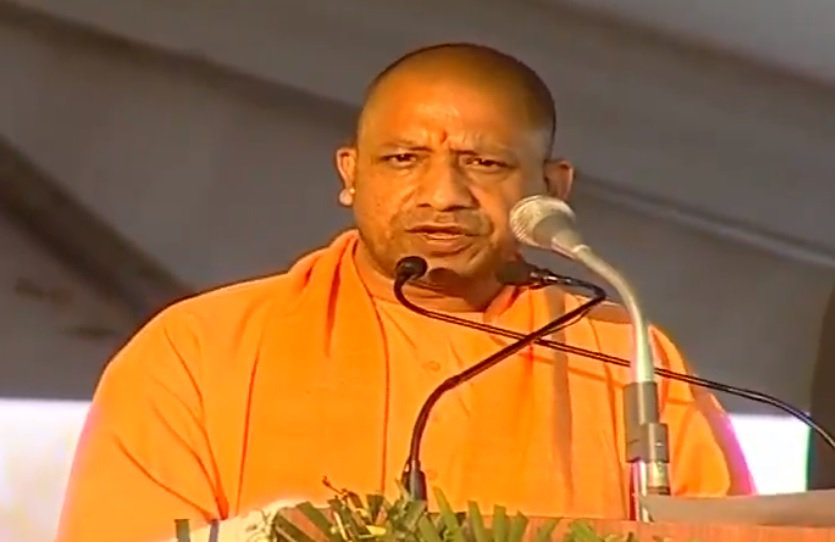 Uttar Pradesh Chief Minister Yogi Adityanath while speaking at an event in Ghaziabad, UP, on Friday. Photo/ANI