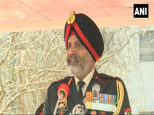 Indian Army Lieutenant General Kanwal Jeet Singh Dhillon while speaking to media in Srinagar on Saturday. [Photo/ANI]