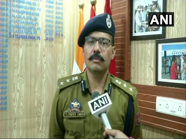 SSP Jammu, Tejinder Singh speaking to ANI on Saturday (File Photo)