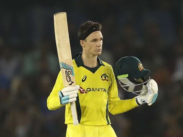 Australia's middle order batsman Peter Handscomb (Courtesy- BCCI Twitter)