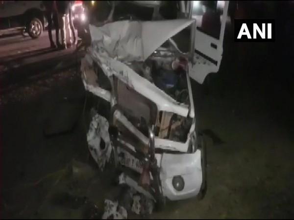 A visual from the accident spot in Kondagaon,Chhattisgarh [Photo/ANI]