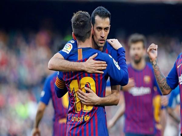 Lionel Messi and Sergio Busquets (Photo: Twitter/Sergio Busquets)
