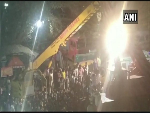 Rescue operation underway at building collapse site in Dharwad