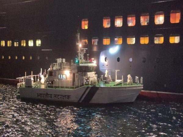 Indian Coast Guard ship used to evacuate a critically ill British national off the coast of Goa