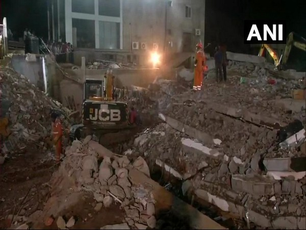Visuals from the site in Dharwad where rescue operations are underway following a building collapse