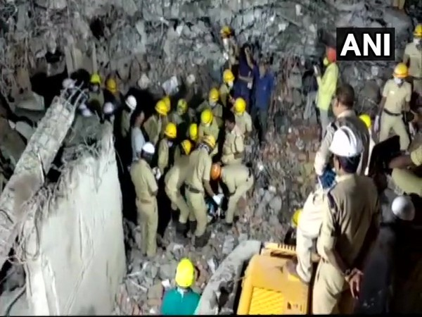 Visuals from the incident site in Karnataka's Dharwad [Photo/ANI]