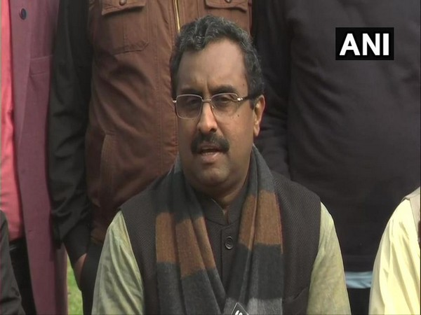 BJP national general secretary Ram Madhav speaks to media in Srinagar on Wednesday. [Photo/ANI]