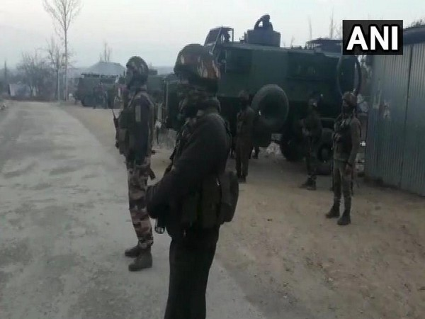 Visuals from the site where encounter broke out in Shopian