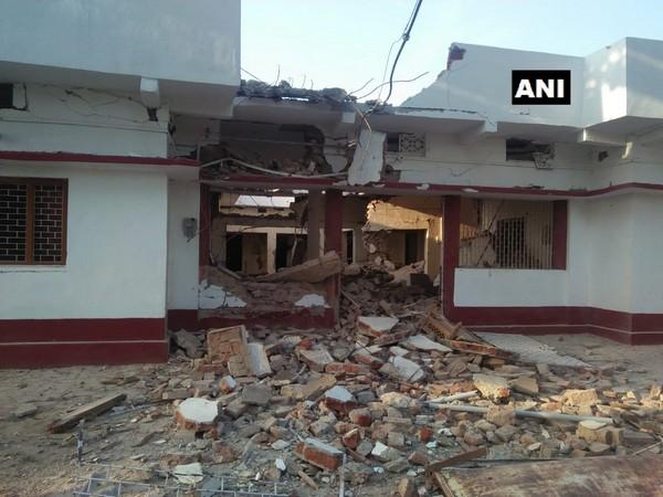 Bharatiya Janata Party leader Anuj Kumar's residence blown up with dynamite by naxals in Bihar's Gaya Photo/ANI