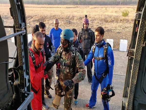 Major DP Singh preparing for a Skydive on Thursday.
