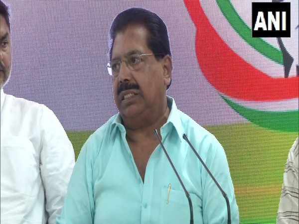 Delhi Congress In-charge P C Chacko addressing a press conference in New Delhi on Friday Photo/ANI