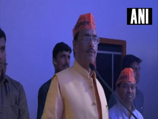 Uttar Pradesh deputy Chief Minister Dinesh Sharma speaking at an event on Tuesday in Uttar Pradesh (Photo/ ANI)