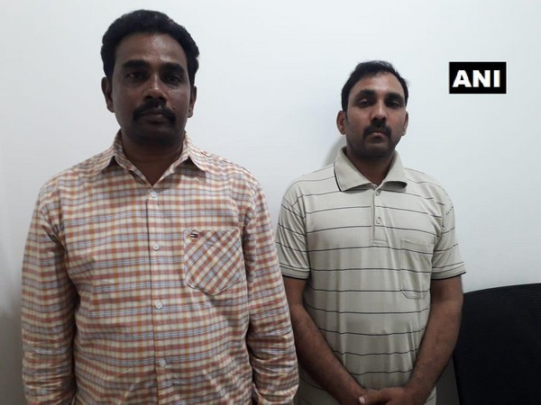 The arrested Nimmaluri Srihari and Avuti Pandari