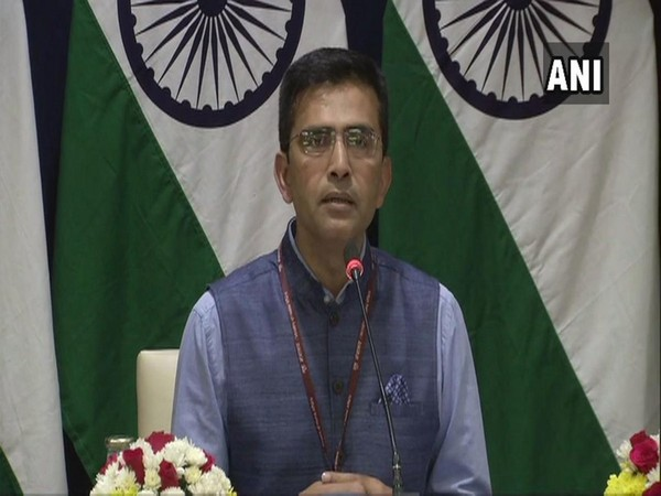 Ministry of External Affairs Spokesperson Raveesh Kumar during the weekly press briefing here on Thursday (Photo/ANI)